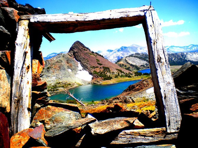 View of Gaylor Lakes from the silver mine.