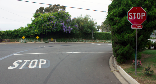 """It used to say """"yield"""" going north at the corner of Silvergate Avenue and Jennings Street. About a year ago, a citizen took down the yield sign and replaced it with a stop sign."""