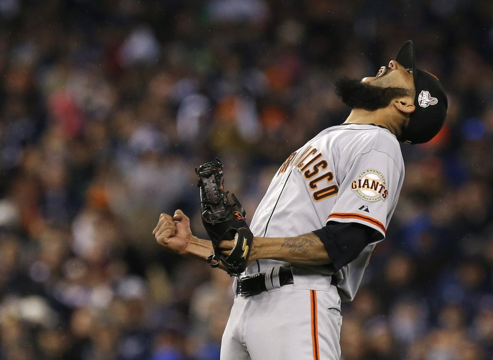 San Francisco Giants pitcher Sergio Romo's Beard