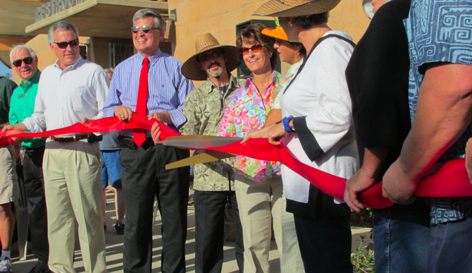 Moonlight Beach ribbon-cutting ceremony, June 13
