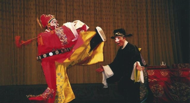 Dramatis personæ at the Beijing Opera.
