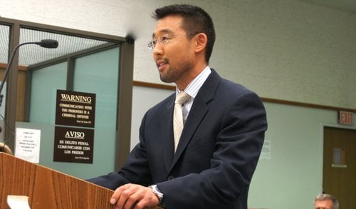 Prosecutor Keith Watanabe said the repeat felon could face life in prison.  Photo Weatherston.