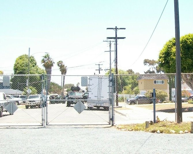 Outside my front gate the San Diego Sheriff SWAT Team command post.