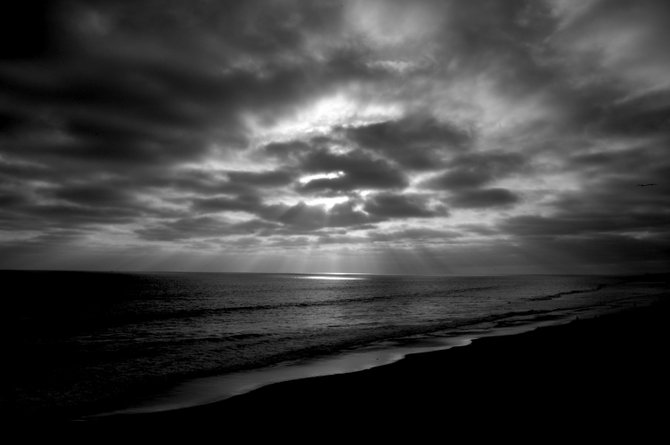 Carlsbad Sunset - Blk and whi