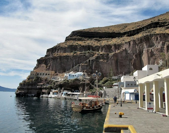 Santorini's Old Port.