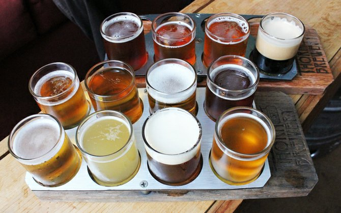 The colors, the colors - a welcomed sight at Thorn St. Brewery.