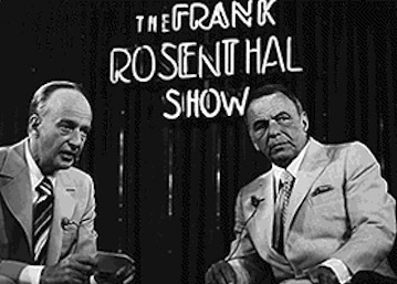 Lefty Rosenthal hosts Frank Sinatra on TV show