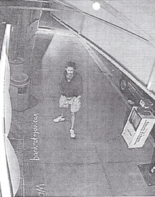 Photo of Olson from court documents taken by security cameras