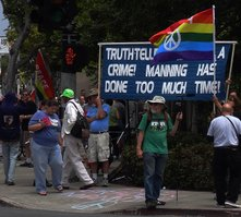 FREE BRADLEY MANNING in chalk!