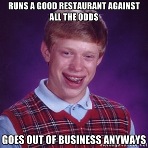 Bad Luck Brian feels for Mark Pelliccia