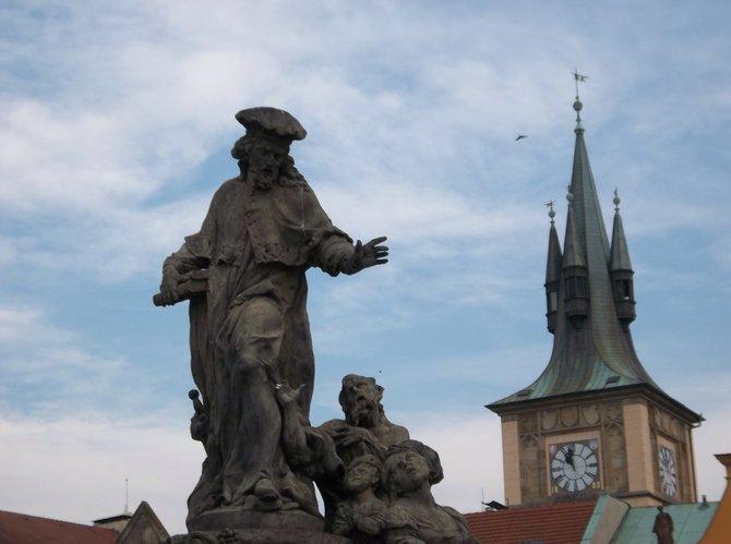 Statue on Charles Bridge in Prague