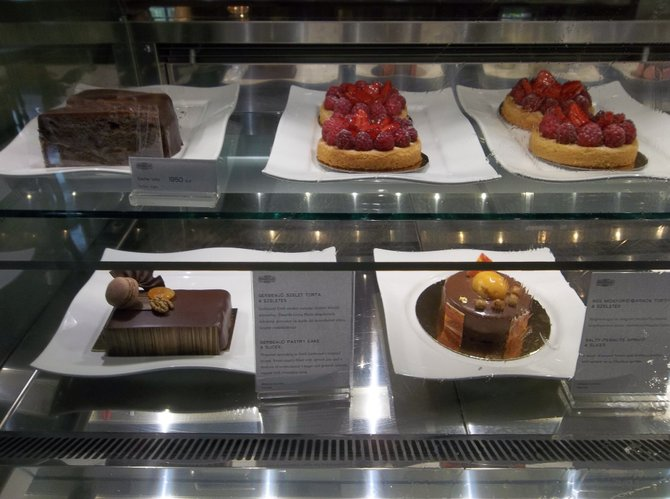 Pastries in Gerbeaud's Cafe, Budapest