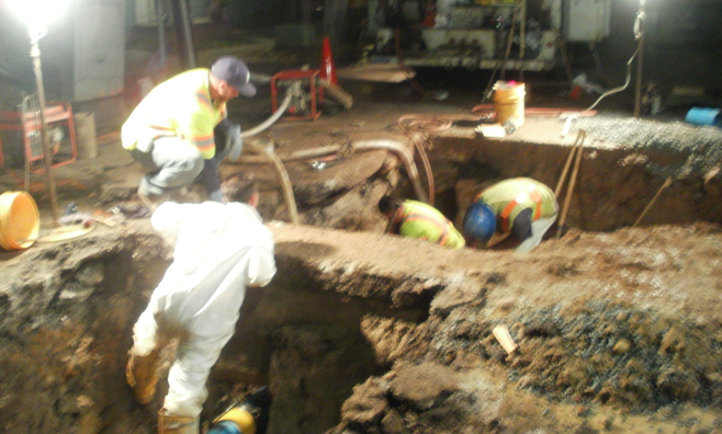 Workers at 33rd Street and Meade Avenue, January 7, 2013