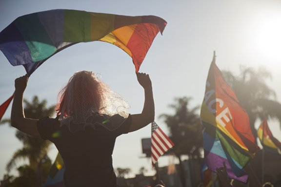 Peace, Love, and Equality:  Hillcrest's rally to celebrate the Supreme Court's decision to overturn DOMA and to dismiss Prop 8.