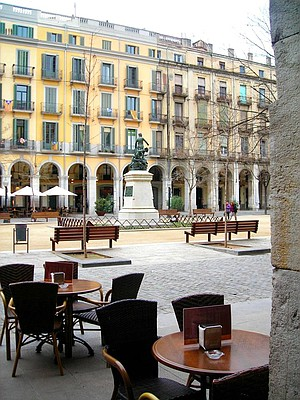 Café in the center of town.