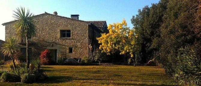 The Garforth's restored 15th-century stone villa in San Bartomeo de Torres.