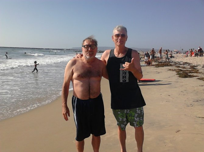 Peter & Alan at their best spot in Ocean Beach.