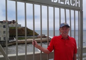 Alan at the entrance of the Pier.