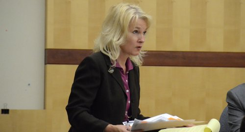 Prosecutor Anna Winn will liquidate assets for victims.  Photo Weatherston.