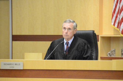 Judge Richard E. Mills said it called for jail time. Photo Bob Weatherston.