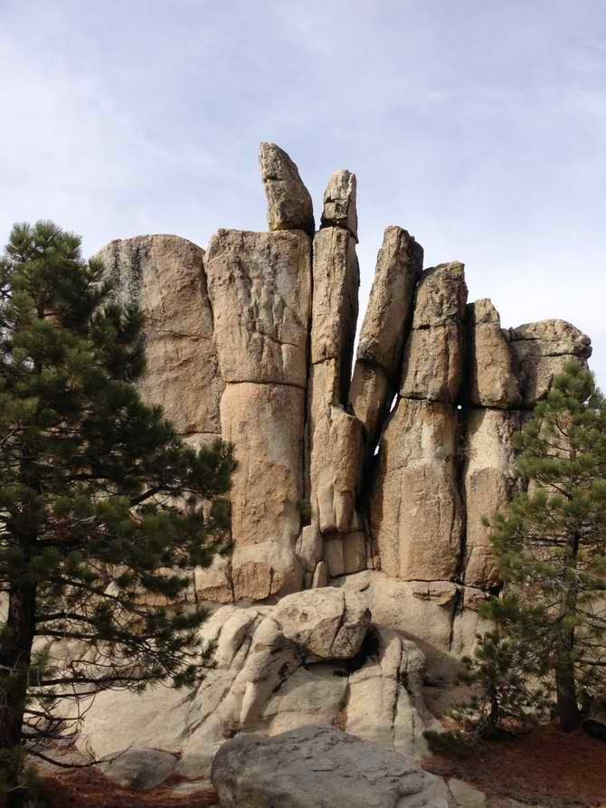 The hike to Castle Rock is one of Big Bear's most popular trails.