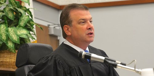 Hon. Judge Blaine Bowman set next court date for one month. Photo Weatherston.