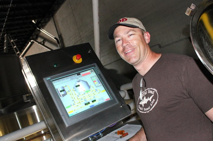 Mike Hess reports to the bridge of his technologically advanced brewhouse.