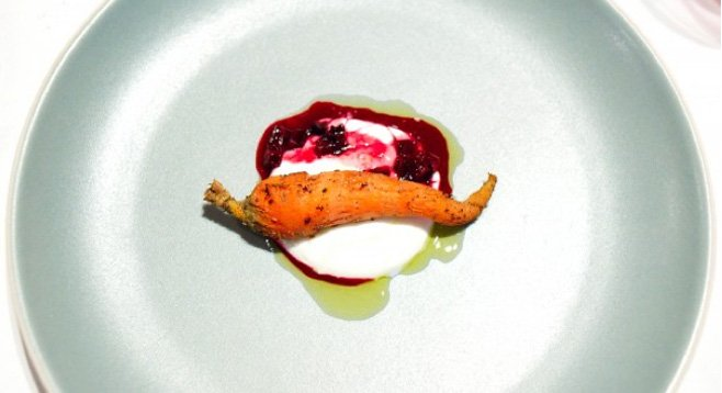 "The carrot course at TBL3. ""I promise you the chef isn't scheming in the kitchen to figure out ways to piss you off."""