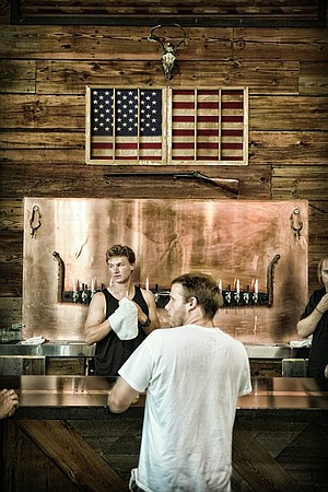 BNS equipped its bar with a glycol-cooled copper strip that keeps any beer glass placed upon it cool