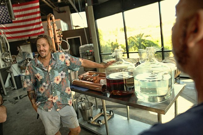 Andrew Arrabito at home in BNS' distillery