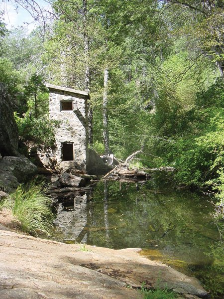 The historic stone weir is one of the more interesting stops on this hike.
