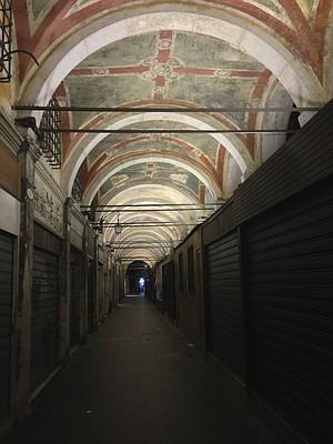 """""""Secret"""" passageway in Venice."""