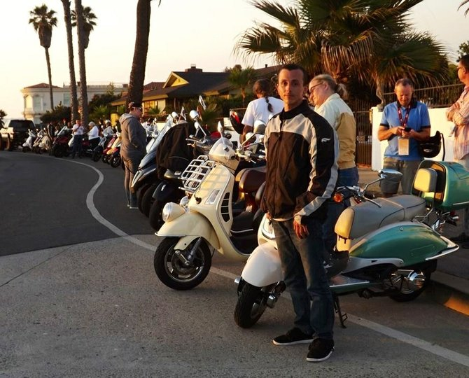 Hundreds of scooter join San Diego over the past weekend for San Diego's 1st Amerivespa