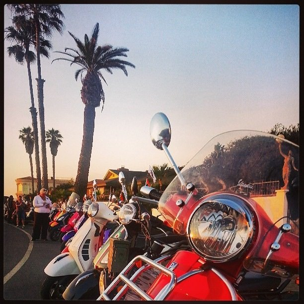 Hundreds of scooter gathered this past weekend from all over the states for San Diego's first Amerivespa