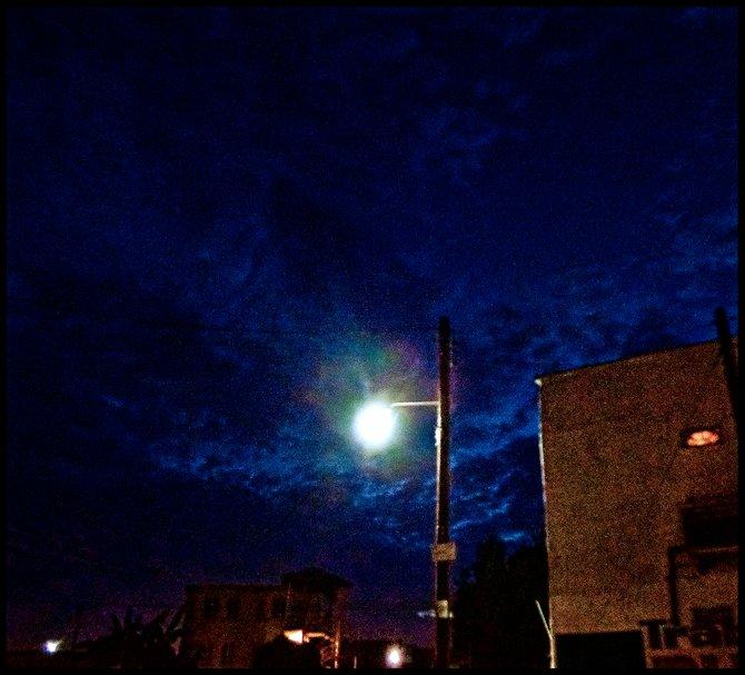 Neighborhood Photos TIJUANA,BAJA CALIFORNIA Darkness falls in Tijuana's Otay section of town/ Cae la noche en Otay en Tijuana.