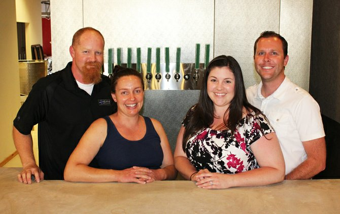 Fallbrook Brewing Company's family McLaughlin (left to right): Chuck, Jaime, Jenn, and Stephan