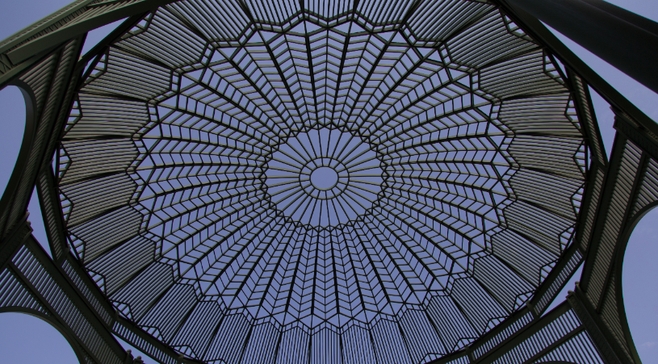 Dome of Escondido's city hall gazebo