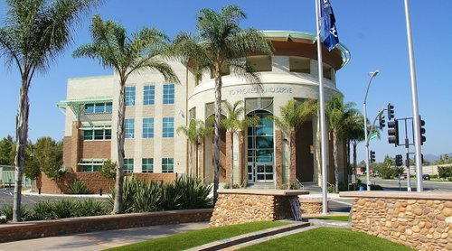 Escondido police headquarters. Photo Weatherston.