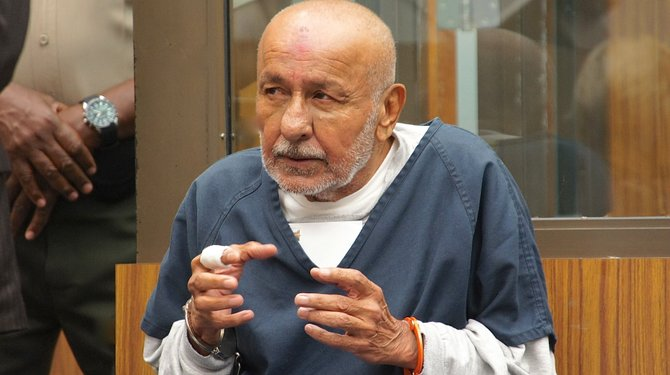 Abdul Ibrahim, 67, pleads not-guilty to murder. Photo Weatherston.