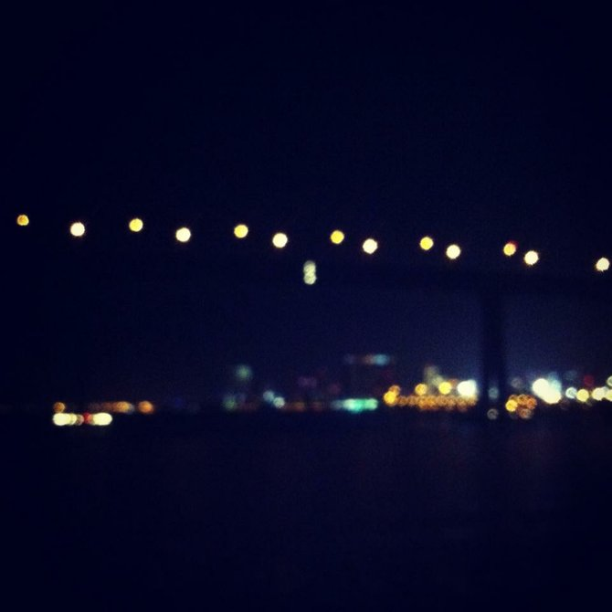 Coronado bridge lights :)