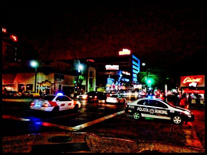Neighborhood Photos TIJUANA,BAJA CALIFORNIA Revolution Avenue,Tijuana's main tourist thoroughfare as seen at night/Avenida Revolucion,princial via turistica de Tijuana,vista de noche.