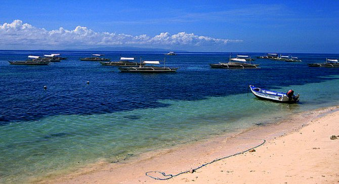 One of the many stunning beaches in Bohol