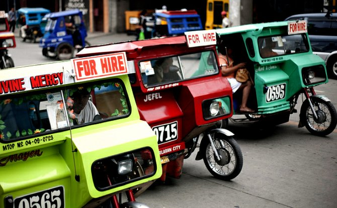 There is never a shortage of taxis in Bohol