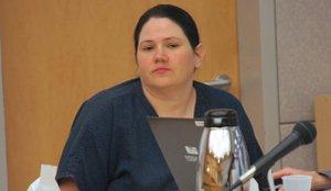 Mistress Dee, at earlier hearing.