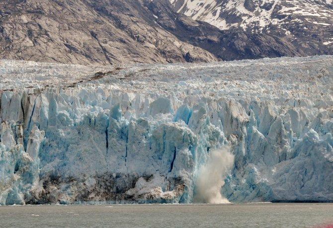 Alaska glacier calving.