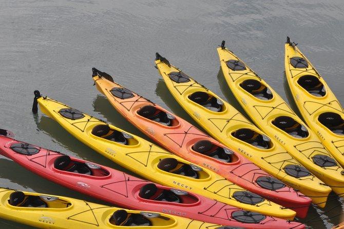 Kayaks waiting for us...