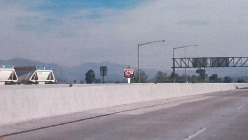 Artist's rendering of sign view from 52 eastbound