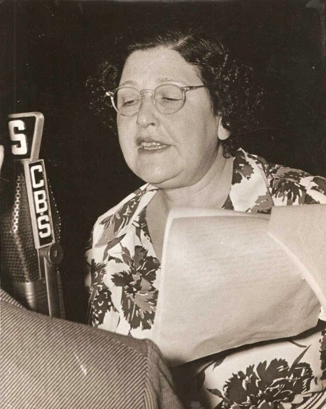 Louella Parsons takes to the air.