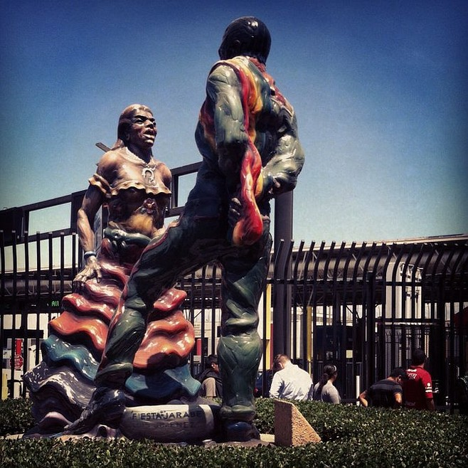 Monument by Luis Jimenez at Otay Mesa Port of Entry.