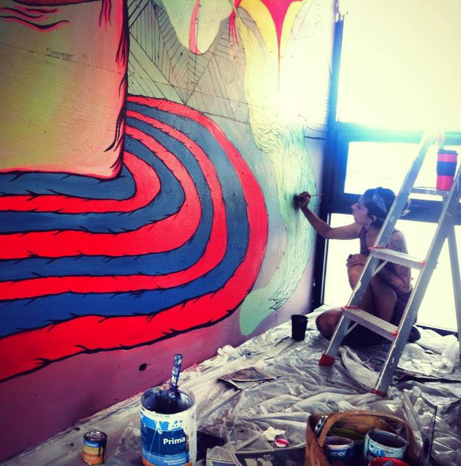 Preview of PANCA's mural by Montse Leon.